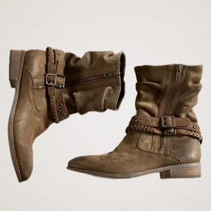 Matisse Outback Suede Leather Side Zipper Ankle 8